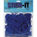 Stick It Felt Cobalt Numbers and Letters (Case of 80)