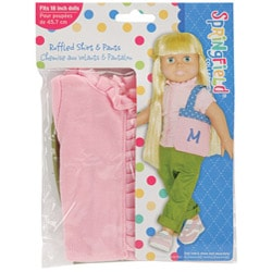 Springfield Collection Ruffled Top and Pants Doll Clothes