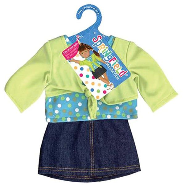 Springfield Collection Lime and Denim Shrug Shirt and Skirt