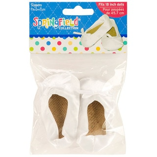 Springfield Collection White Satin Slippers