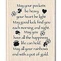 Inkadinkado 'May Good Luck Find You' Rubber Stamp