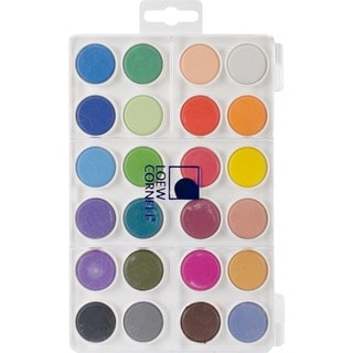 Dry Pan 24-color Watercolor Paint Cakes