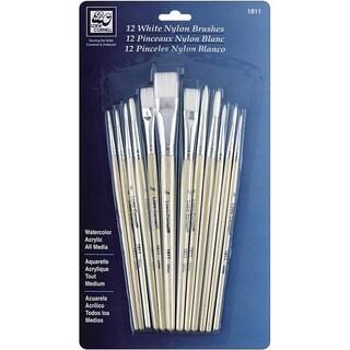 White Nylon Brush Set (Pack of 12)