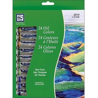 Loew Cornell 24-tube Oil Paint Set