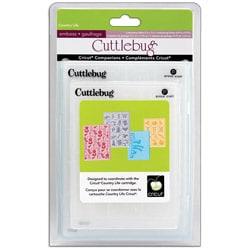 Cricut Cuttlebug Companion Embossing Folder Country Life Bundle (Pack of 4)