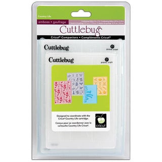 Cricut Cuttlebug Companion Embossing Folder Country Life Bundle (Pack of 4)