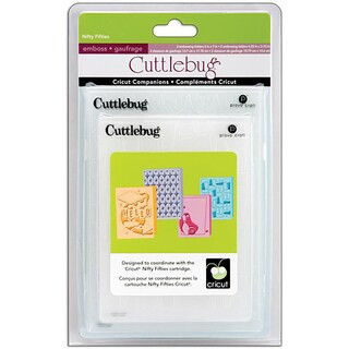 Cricut Cuttlebug Companion Embossing Folder Nifty Fifties Bundle (Pack of 4)