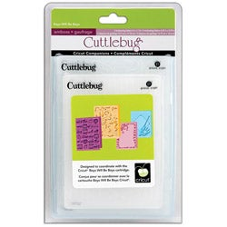 Cricut Cuttlebug Companion Embossing Folder Boys Will Be Boys Bundle (Pack of 4)