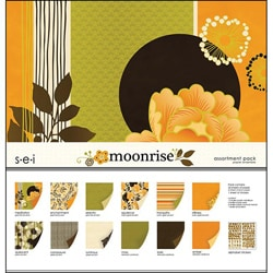 Moonrise Assortment Double-sided Scrapbooking Paper Pack with Alphabet