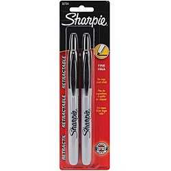 Sharpie Fine Point Retractable Permanent Markers (Pack of 2)