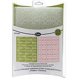Sizzix Evergreen and Snow Flowers Embossing Folders (Pack of 2)