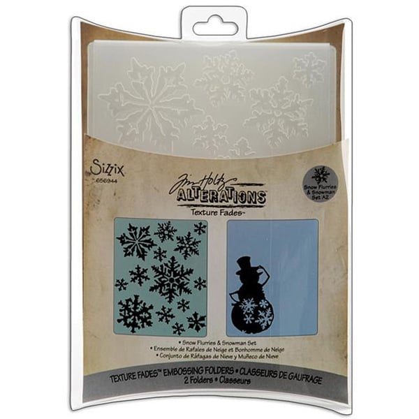 Sizzix Snow Flurries and Snowman Embossing Folders (Pack of 2)