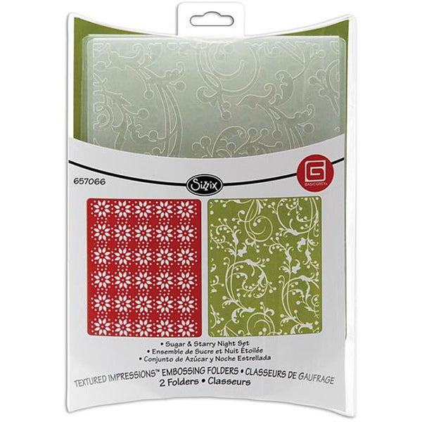 Sizzix Sugar and Starry Night Embossing Folders (Pack of 2)