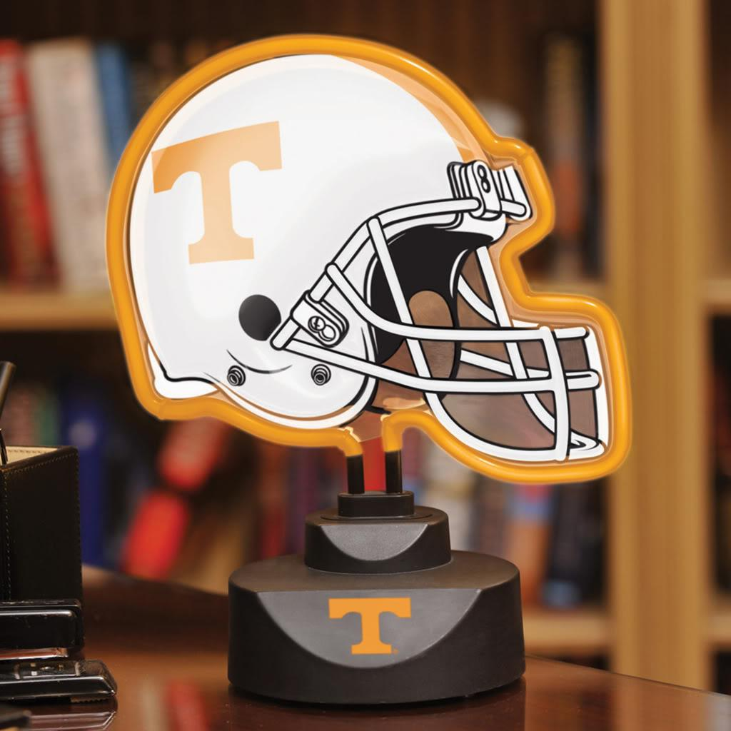 NCAA Tennessee Volunteers Neon Football Helmet Lamp