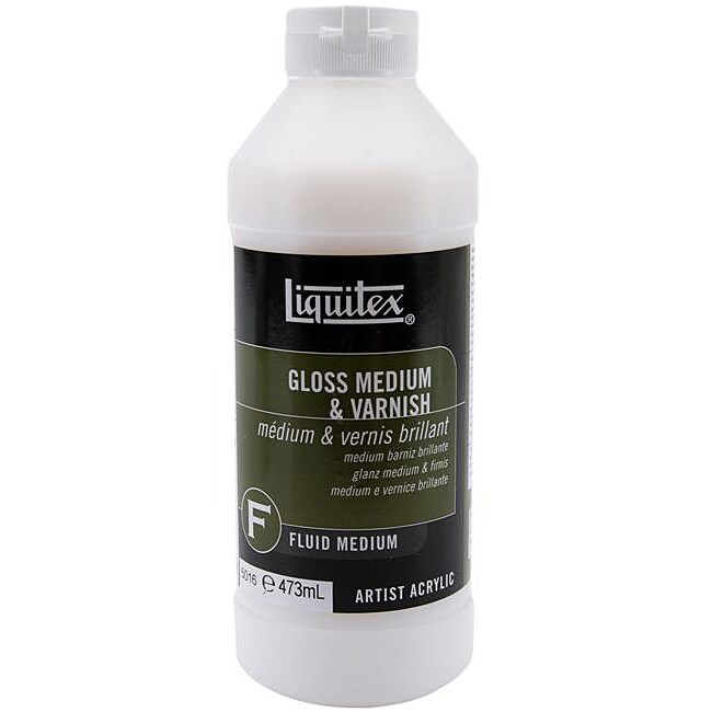 Liquitex 16 oz gloss medium and varnish overstock for Gloss medium for acrylic painting