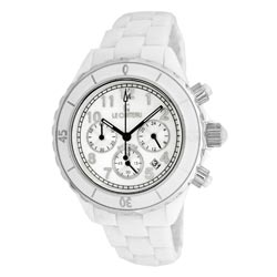 Le Chateau Persida LC Unisex White Ceramic Chrongraph Watch
