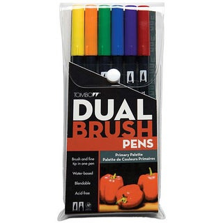 Tombow Primary Dual Brush Pen Set (Pack of 6)