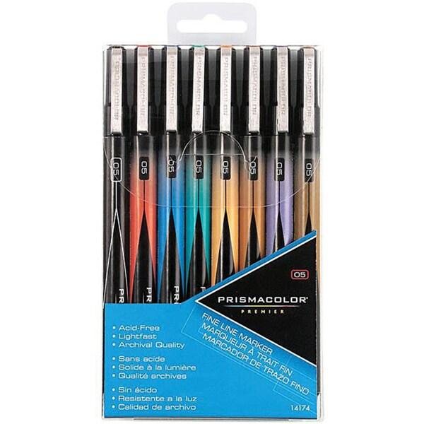 Prismacolor Fine Line Assorted Premier Marker Set (Pack of 8)