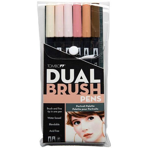 Tombow Portrait Dual Brush Pen Set (Pack of 6)