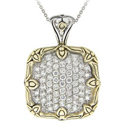 Icz Stonez Two-tone Sterling Silver Cubic Zirconia Necklace