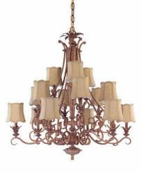 Island Cay 15-light 2-tier Chandelier