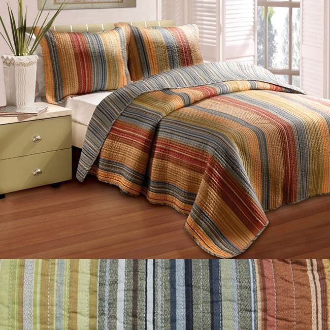 Greenland Home Fashions Katy 3-piece Twin-size Quilt Set
