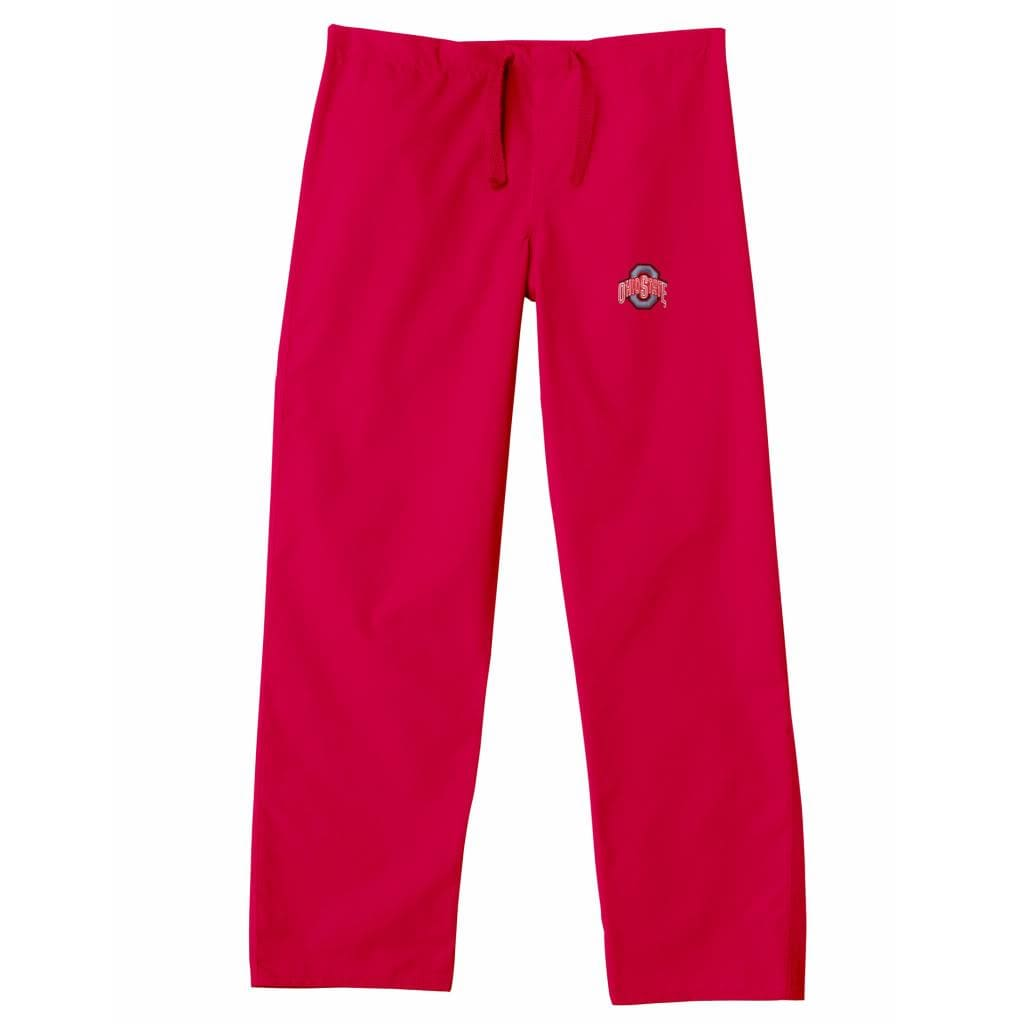 Gelscrub Unisex Red Ohio State Buckeye Scrub Pants