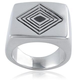 Stainless Steel Men's Multi-diamond Pattern Ring