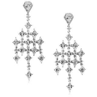 Annello 14k Gold 4 1/3ct TDW Diamond Chandelier Earrings (G-H, VS1-VS2)