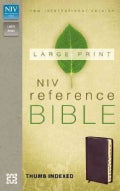 Holy Bible: New International Version, Burgundy Leather-Look Reference Bible (Paperback)