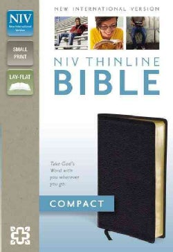 Holy Bible: New International Version, Black, Bonded Leather, Thinline Bible (Paperback)
