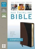 Holy Bible: New International Version Tan / Black Italian Duo-Tone Thinline (Paperback)