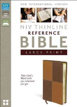 Holy Bible: New International Version, Brown / Brown, Italian Duo-Tone, Thinline Reference Bible (Paperback)