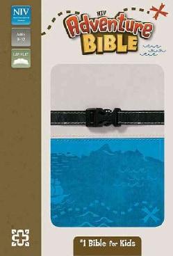 Adventure Bible: New International Version, Gray / Blue, Italian Duo-Tone, Clip Closure (Paperback)