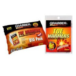 Grabber Big Pack Combo Toe Warmers (Pack of 2)
