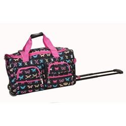 Rockland Deluxe 22-in Butterfly Carry-on Rolling Duffel Bag