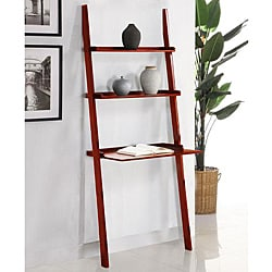 Cherry 3-tier Leaning Laptop Shelf