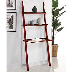 Cherry 3-tier Leaning Laptop Shelf