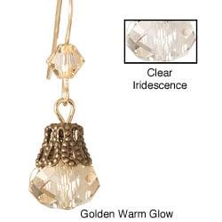 14k Yellow Gold Fill 'Breathtaking Brilliance in Lace' Crystal Bead Earrings