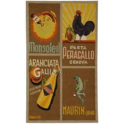 Safavieh Hand-hooked Vintage Poster Mocha Wool Rug (2'9 x 4'9)