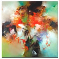 "Zavaleta 'Abstract II' 35"" x 35"" Canvas Art"