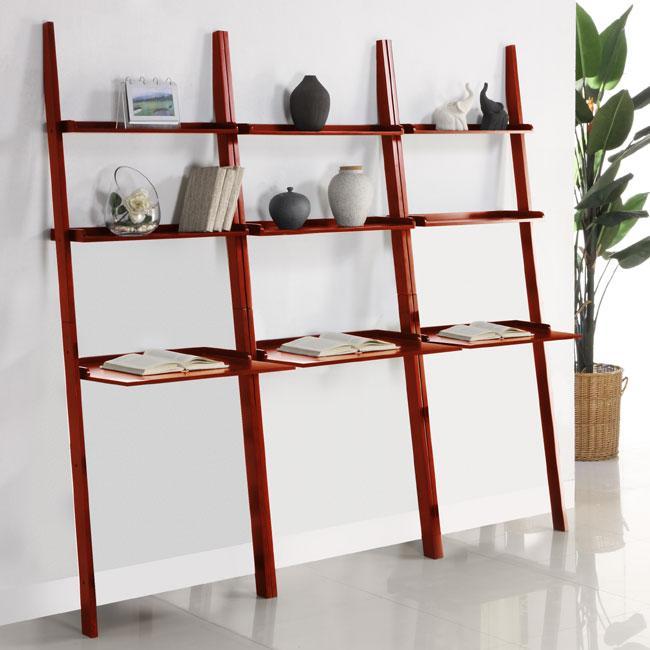 Cherry 3-piece Leaning Laptop Shelf Set