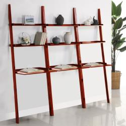 Cherry 3-piece Leaning Laptop Shelf Set