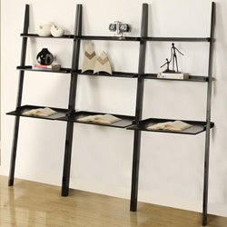Black 3-piece Leaning Laptop Shelf Set