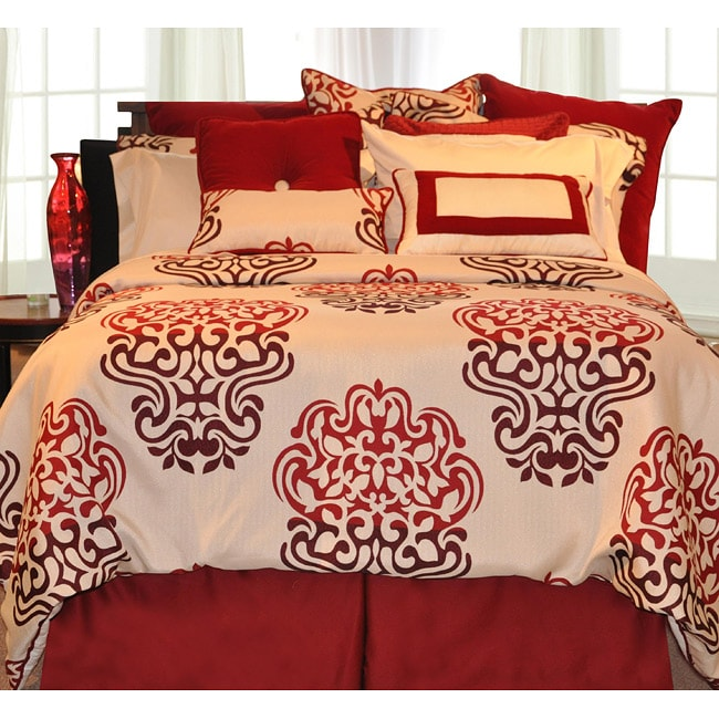 Cherry Blossom 9-piece Twin-size Bed in a Bag with Sheet Set
