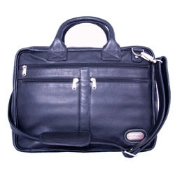 Leatherbay Princeton Black Leather Briefcase