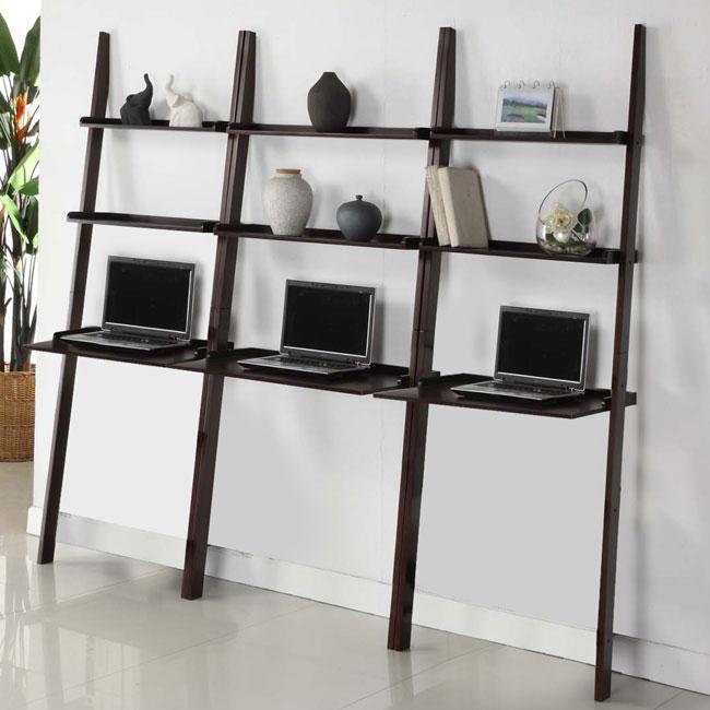 Cappuccino 3-piece Leaning Laptop Shelf Set