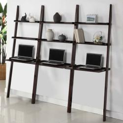 Cappuccino 3-piece Leaning Laptop Shelf Set