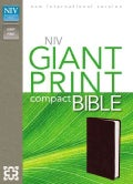 Holy Bible: New International Version, Burgundy, Leather-Look, Giant Print (Paperback)