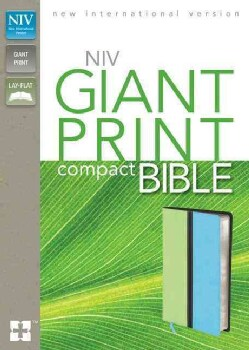 Holy Bible: New International Version Melon Green / Turquoise Italian Duo-Tone Giant Print (Paperback)